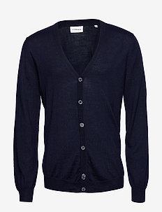 Merino knit cardigan - cardigans - navy