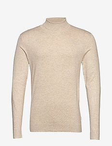 Roll neck knit - basic gebreide truien - beige mel