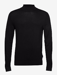 Roll neck knit - basic gebreide truien - black