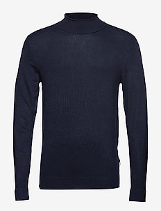 Roll neck knit - perusneuleet - navy mel