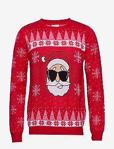Xmax Santa head jacquard - RED