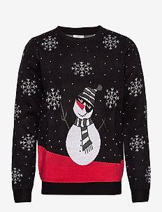 Xmax happy snowman jacquard - BLACK