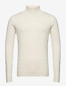 Merino knit roll-neck - OFF WHITE