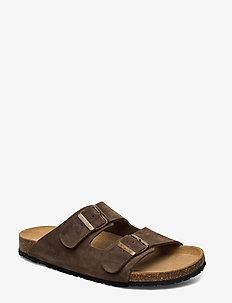 Suede sandal - SAND