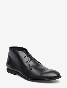 Leather boot - desert boots - black