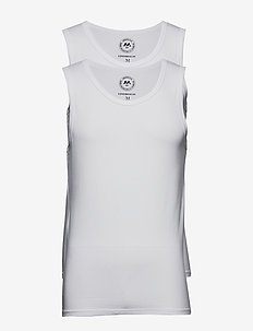 2 pack bamboo tank top - multipack - white