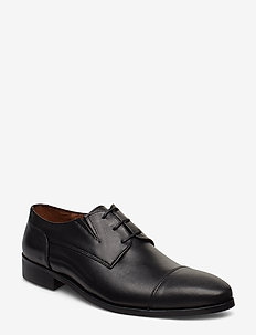 Classic leather shoe - laced shoes - black