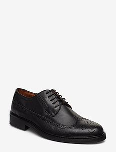 Leather brogue oxford shoe - brogues - black