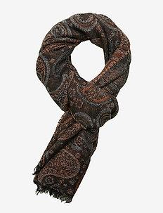 Paisley jacquard scarf - BROWN