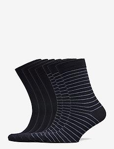 7 day pack - regular socks - blue mel