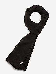 Knit scarf - halsdukar - black