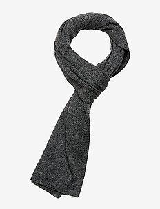 Knit scarf - BLACK MEL