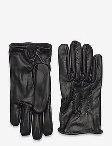 Leather gloves - rękawiczki - black
