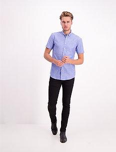 Linen shirt S/S - peruspaitoja - blue