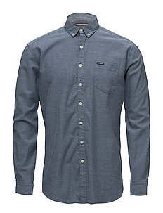 Small herringbone shirt L/S - NAVY