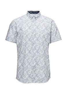 All over printed shirt S/S - WHITE