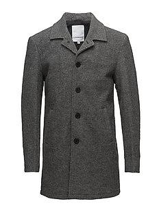 Wool coat - GREY MEL