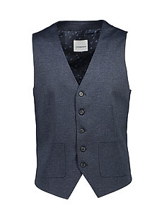 Waistcoat for knitted suit - NAVY MIX
