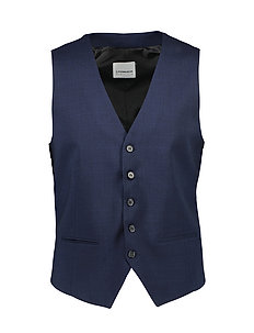Waistcoat for checked suit - NAVY CHECK