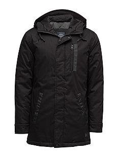 Jacket with hood - BLACK