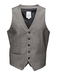 Mens waistcoat for suit - GREY MIX
