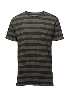 Striped mouliné tee S/S - DK ARMY MIX
