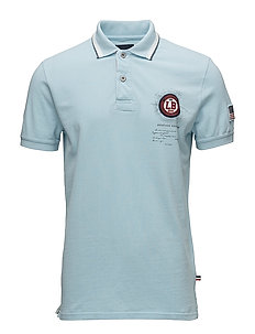 Polo S/S pigment dyed w. app. - LT BLUE