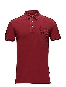 Polo piqué w. applications S/S - RED