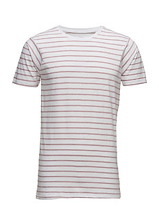 Striped tee S/S - DARK ROSE