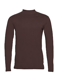 Low turtle-neck tee L/S - DK PURPLE
