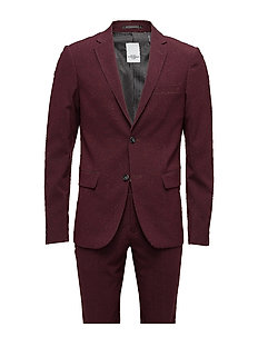 Plain mens suit - BORDEAUX MEL