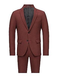 Plain mens suit-blazer + pant - DK RED