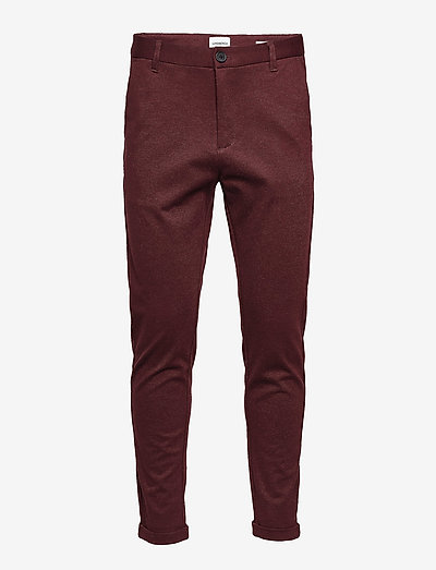 Lindbergh Superflex Knitted Cropped Pant- Housut Red Mix