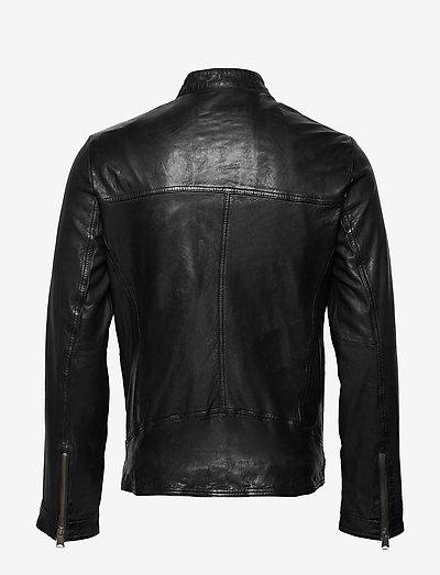 Lindbergh Leather Jacket- Jacken & Mäntel Black