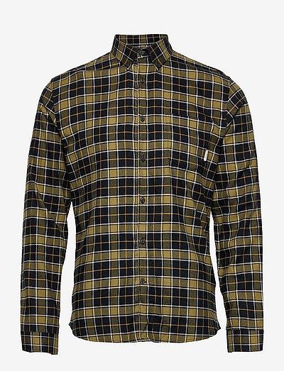 Checked Brushed Shirt L/S - koszule w kratkę - army