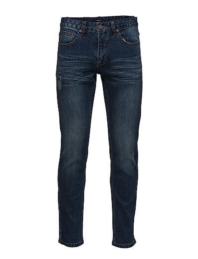 Tapered fit jeans dk water blu - DARK WATER BLUE