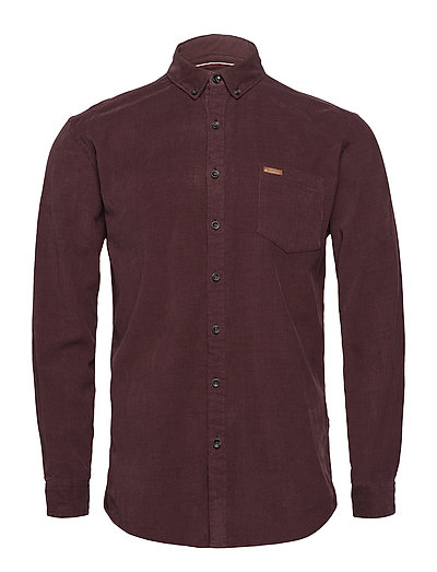 Corduroy L/S shirt - BORDEAUX