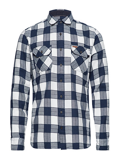 Brushed twill shirt L/S - NAVY