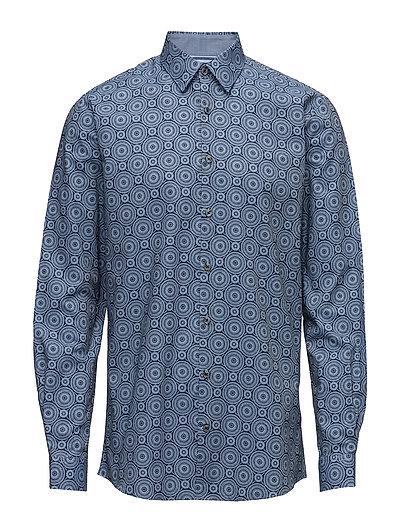 Printed shirt L/S - BLUE