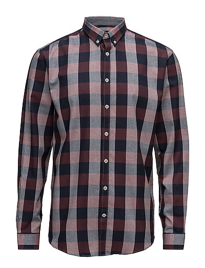 Checked shirt L/S - BORDEAUX