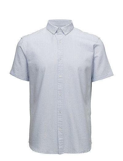Striped oxford shirt S/S - LIGHT BLUE