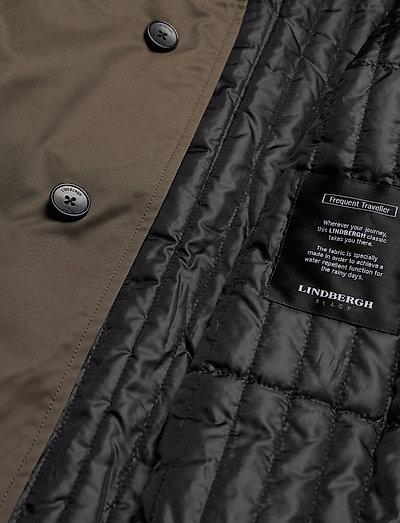 Lindbergh Twill Coat W Detachable Collar- Jacken & Mäntel