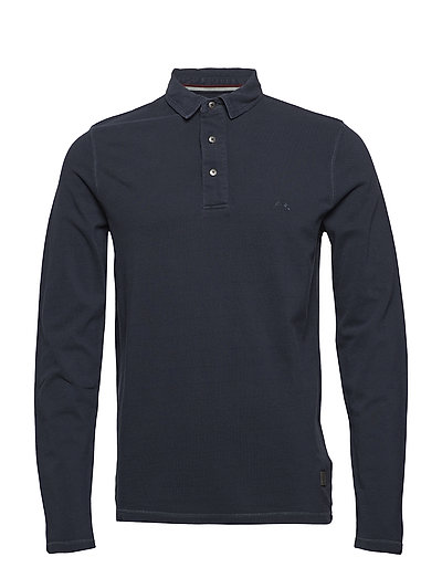 Gmt. dyed polo L/S - NAVY