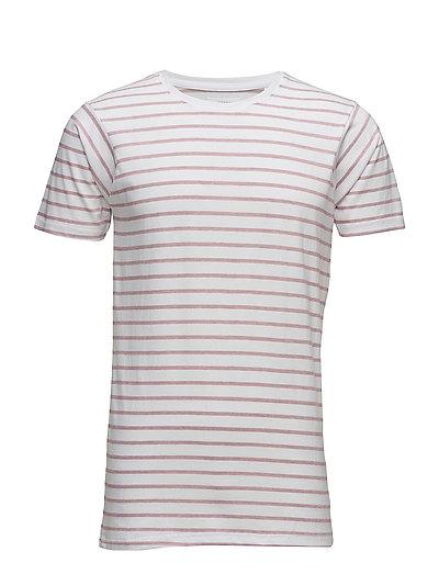 Striped tee S/S - DARK ROSE