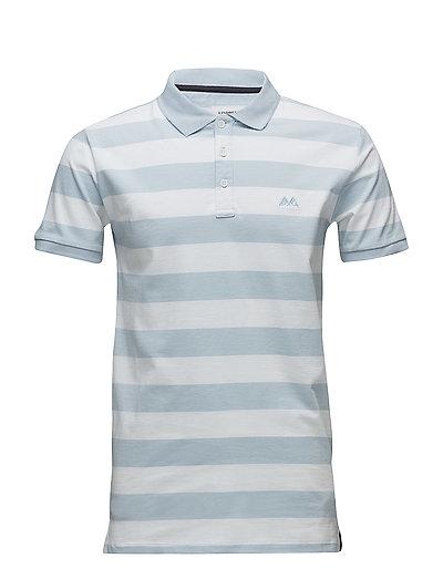 Striped stretch polo shirt - LT SKY BLUE