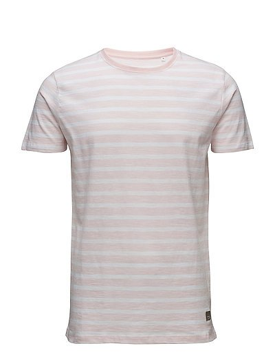 Y/D striped o-neck tee S/S - LT PINK