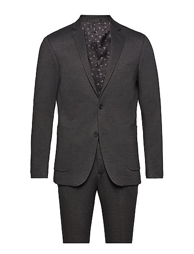 Knitted suit - blazer - GREY MIX