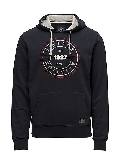 Hooded embroidered sweat - NAVY