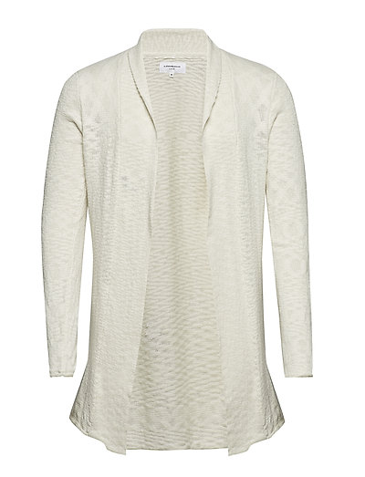 Draped cardigan knit - OFF WHITE