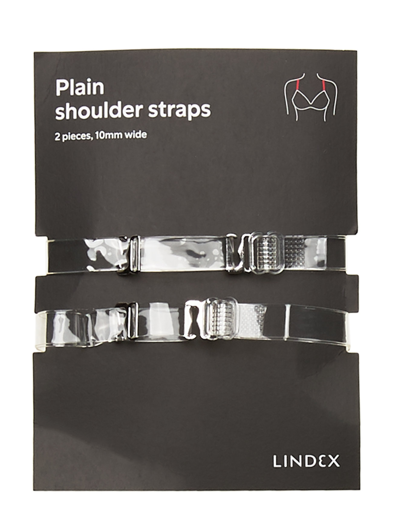 Lindex 10mm Plain plexi straps - TRANSPARENT